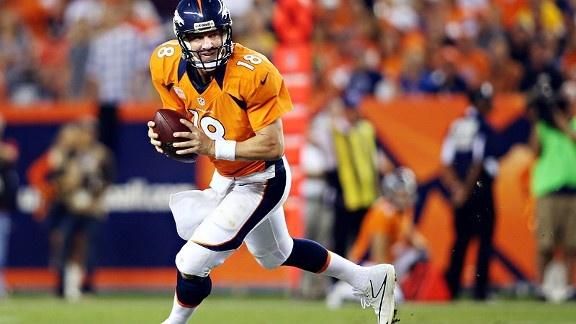Peyton Manning - oh yea, he's back.