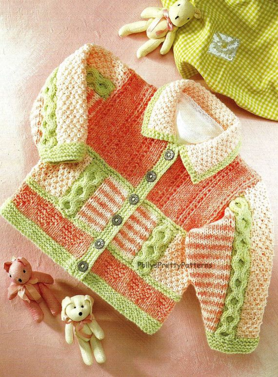 PDF Knitting Pattern  Baby/Children's Cardigan