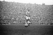 Stoke v Huddersfield league match at the Victoria ground, Saturday 28th October 1961. Stanley Matthews first match - Stock Photo