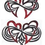 infinito con cuori 150x150 Tatuaggi simbolo infinito e significato