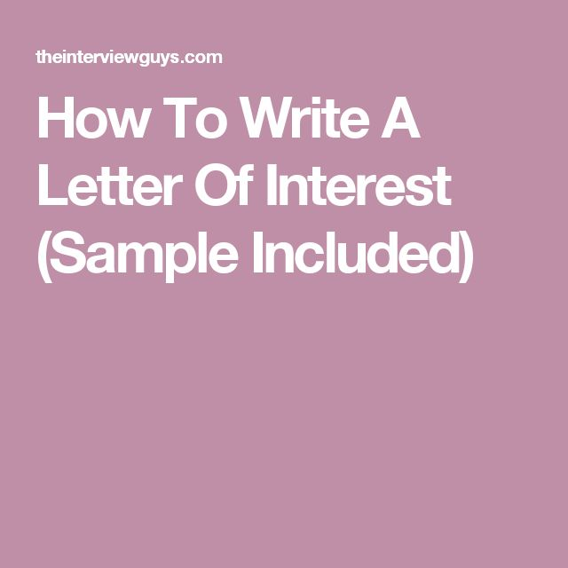 The 25+ best Letter of interest template ideas on Pinterest - letter of interest sample