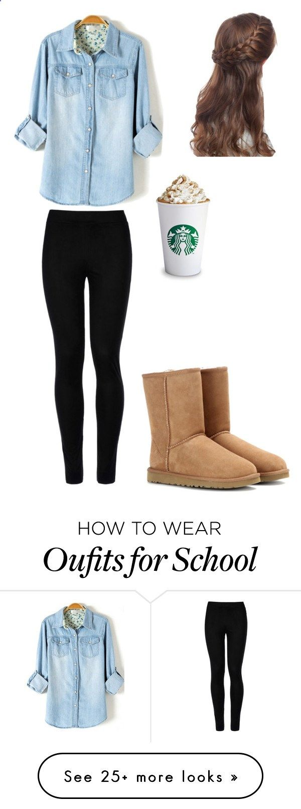 School by danceteweurope on Polyvore featuring Wolford and UGG Australia