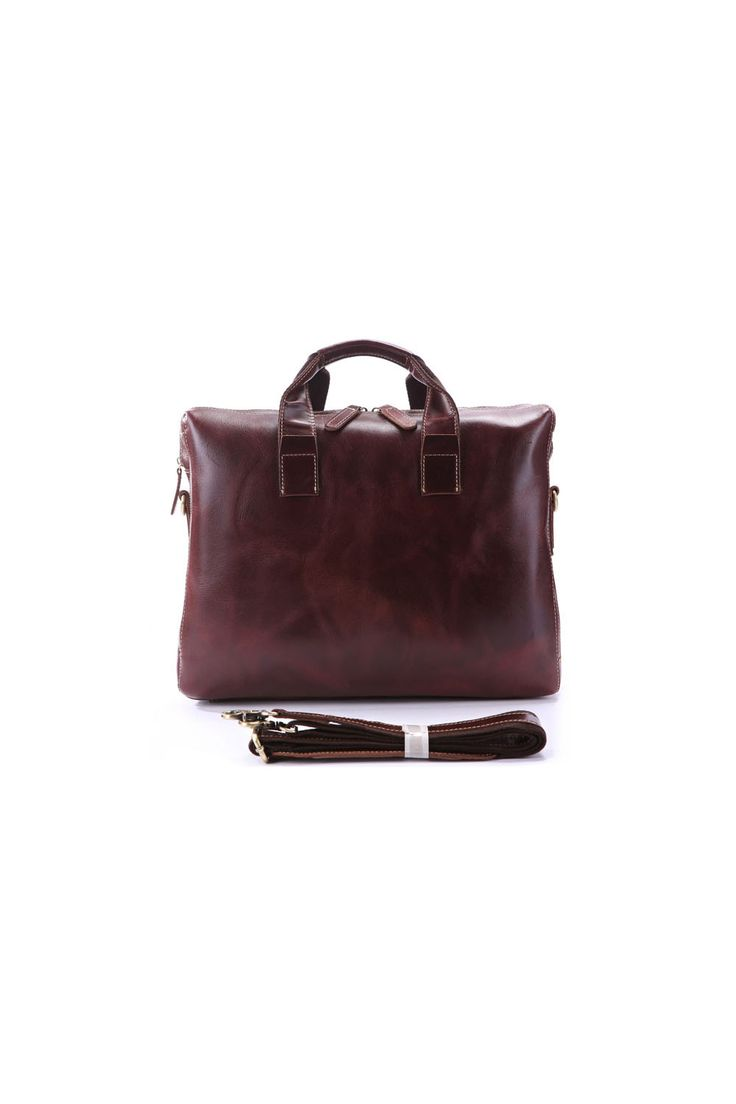 The Pando Laptop bag is a large computer bag made from genuine leather. Minimally designed with a classy look. #leather #laptop #bag