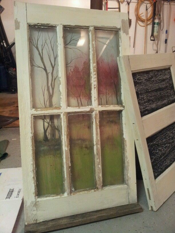 An old white window and one of