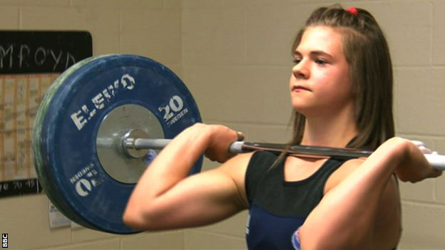 Teenage weightlifter Rebekah Tiler could challenge for a medal at next year's Commonwealth Games.
