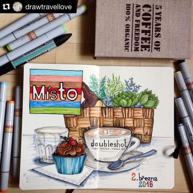 #Repost @drawtravellove with @repostapp. ・・・ Наша сегодняшняя скетч встреча прошла в уютном кафе @mistoprovas // Our today sketch meeting was in a very nice cafe Misto// Naše dnešní sketch setkání proběhlo v utulné kavárně @mistoprovas Určitě se tam jeste vrátíme #art #draw #drawing #drawtravellove #kavarna #cafe #coffee #dobleshot #cz #praha #mistoprovas #cafelatte #marker #markers #copic #finecolour #liner #fabercastell #floral #flower #5yearsjournal #promarker #moleskine #moleskineart…