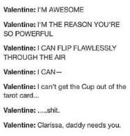 I hate Valentine. What a horrible father to have. Poor Clary.