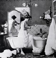 Incantevole bagno d'epoca.