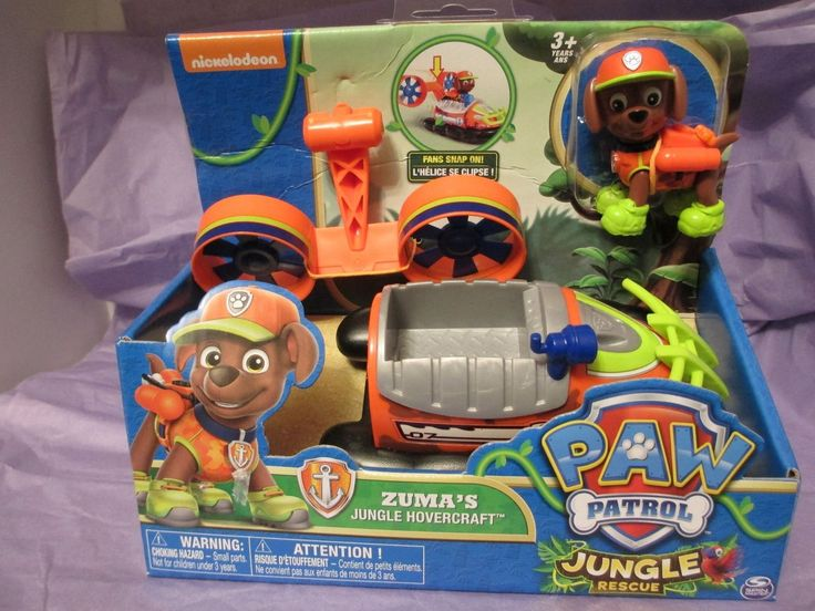 Paw Patrol  Jungle Rescue  Zumas Jungle Hovercraft Toy NEW