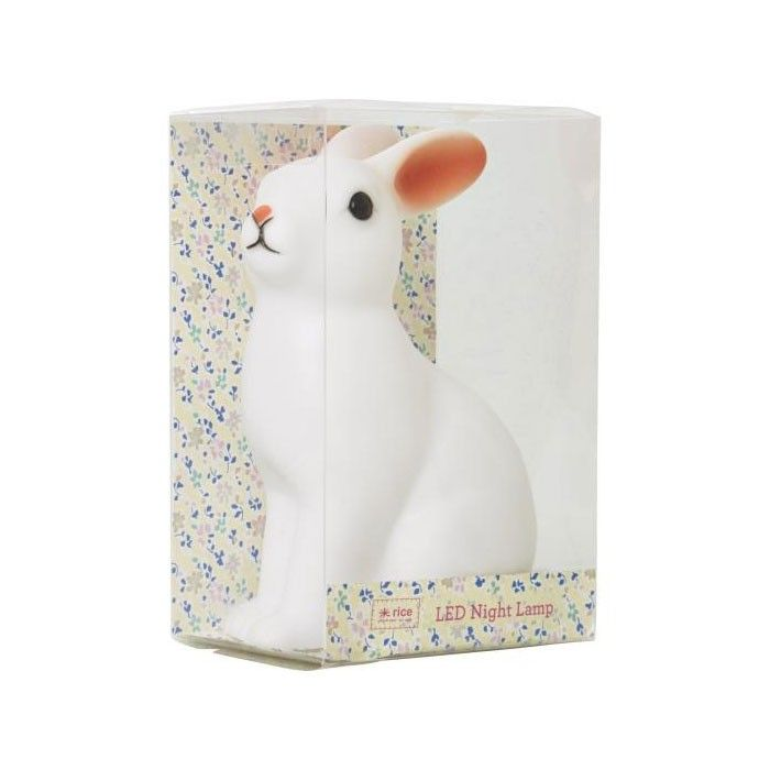 Rabbit Night Light - Colour Changing LED | Rice kids bedside | Yellow Octopus