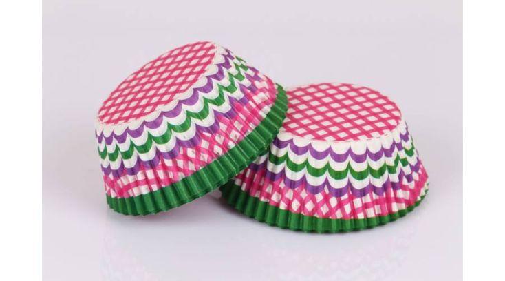 Kétféle mintás 48 db-os muffin papír - Süss Velem.com