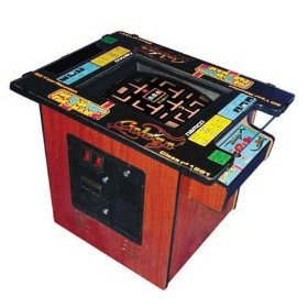 Ms. Pac-Man Classic Cocktail Table Arcade Game with 19-Inch Monitor