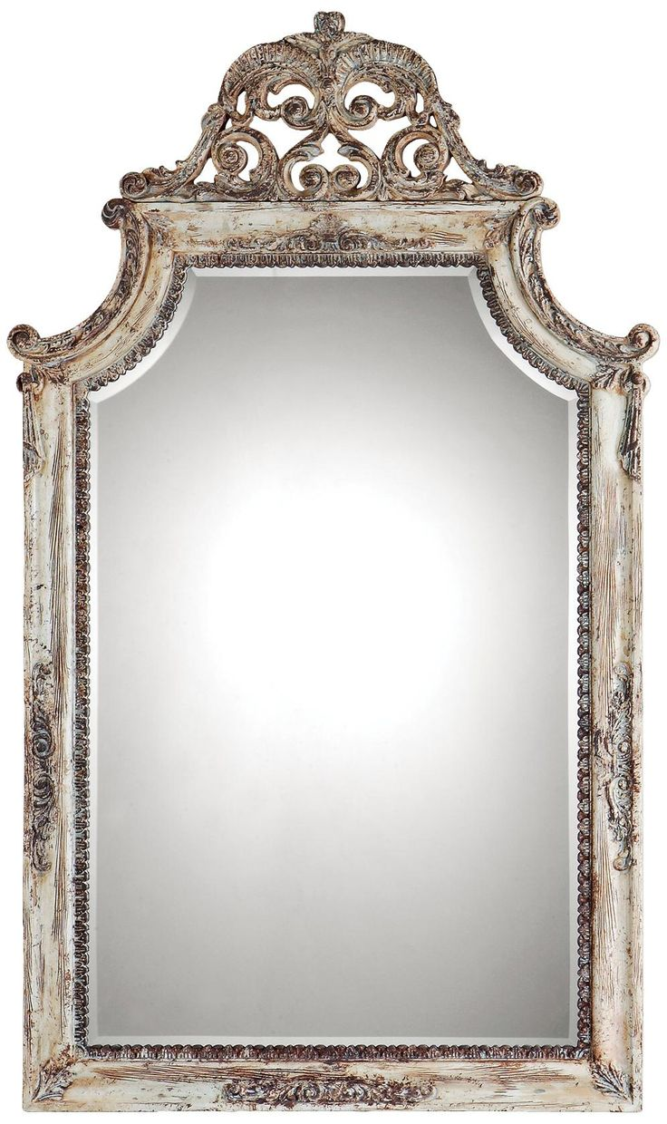 Uttermost Portici 53 Quot High Antiqued Ivory Wall Mirror If