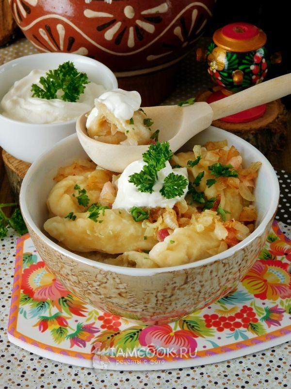 Рецепт вареников с картошкой и капустой