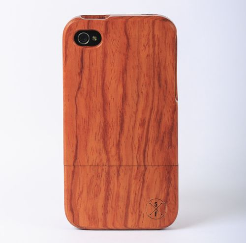 Rosewood Charleston Case - iPhone 4/4S -   Crafted from a solid piece of rosewood and sanded and polished by hand, this unique case offers protection from harmful elements and scratches. Plus, 20% of the sale goes to charity and 1 tree is planted per product sold!