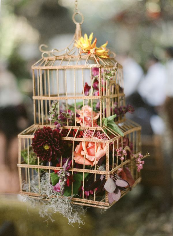 434 best birdcages with flowers images on pinterest birdcage decor vintage - Decoration cage oiseau ...