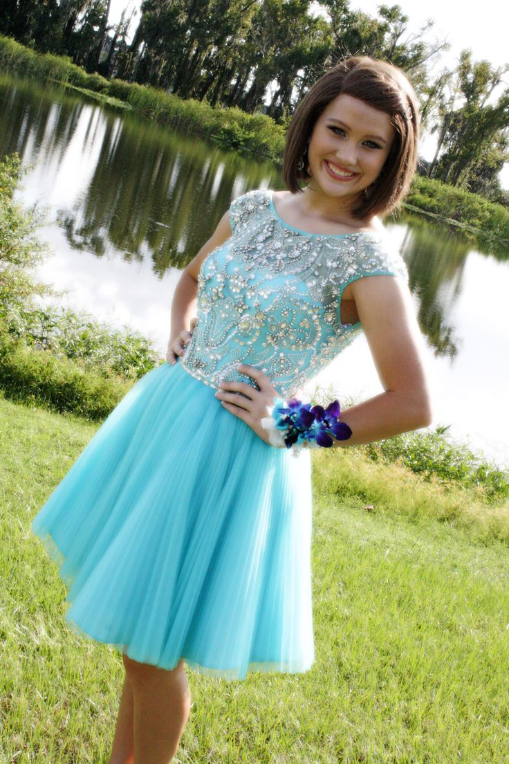 Tiffany Blue Gel Nails With Glitter: #prom #homecoming #tiffany Blue Dress #photography