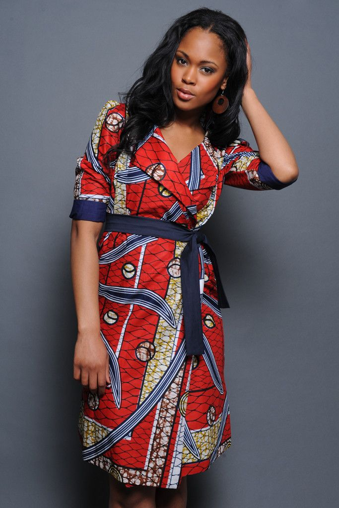 African wrap style dresses