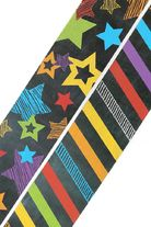 Chalk Talk Collection, Double-Sided Border Trim, 38 Feet, Stars and Stripes