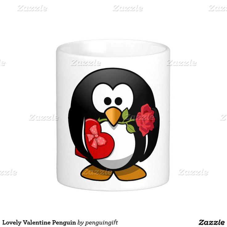 Lovely Valentine Penguin Coffee Mug