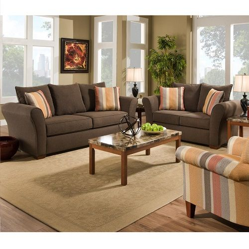 Dark Brown With An Accent Color Is A Great Idea For Any Living Room Space!