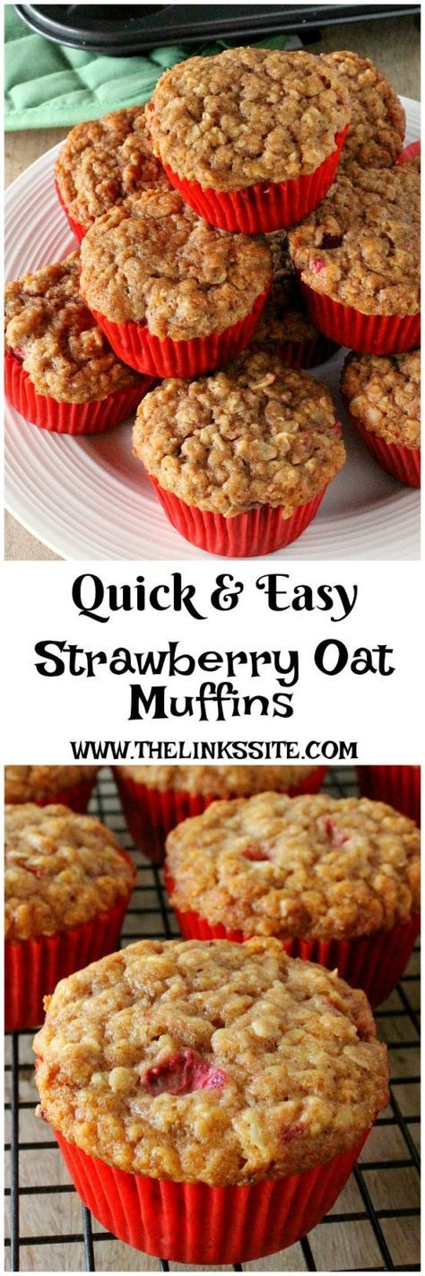 If you're looking for an easy strawberry muffin recipe you can't go past these delicious Strawberry Oat Muffins! thelinkssite.com