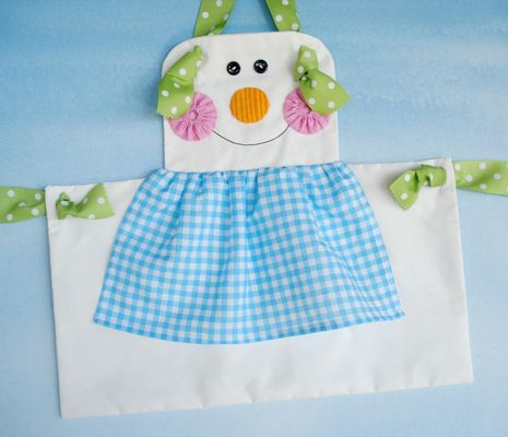 Gingerbread Girl, Snowman & Plain Knot Aprons for Children