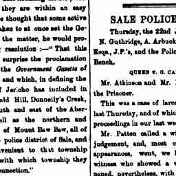 Regina v. Cantelow. George Stanway, witness in case as box of stolen goods left at his Boarding House. Gippland Times, 23 Jan 1863, p. 3, 'Sale Police Court'.