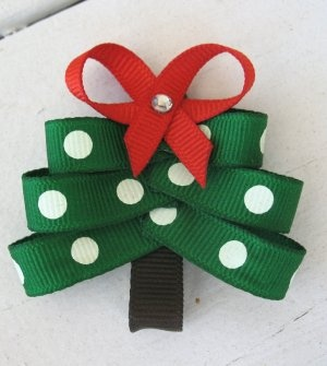 christmas tree ribbon clip