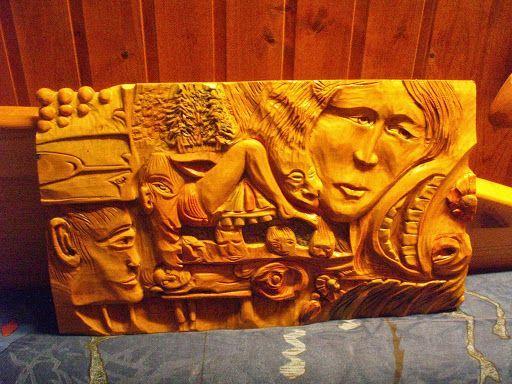 Nähdäänkö yöllä Relief 40 x 20 cm Birch/koivu