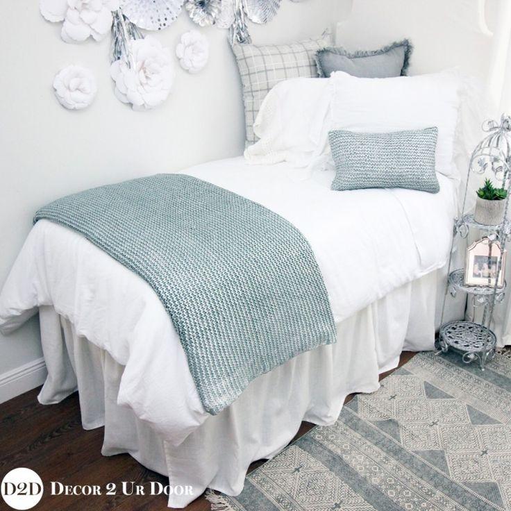 Blue, Silver Metallic U0026 White Bling Dorm Room Bedding And Metallic Dorm  Room Bedding And Part 35