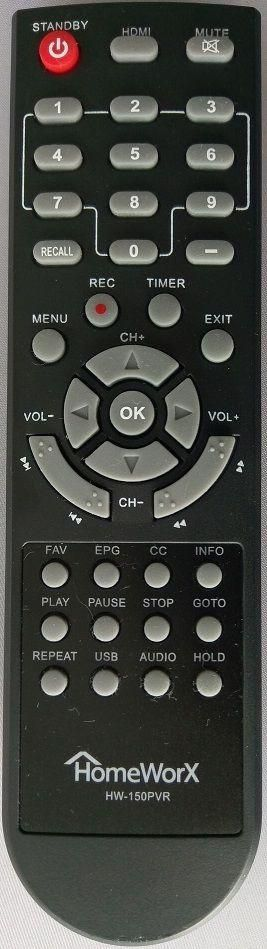 HomeWorX HW-150PVR Remote Control Digital Cable Box