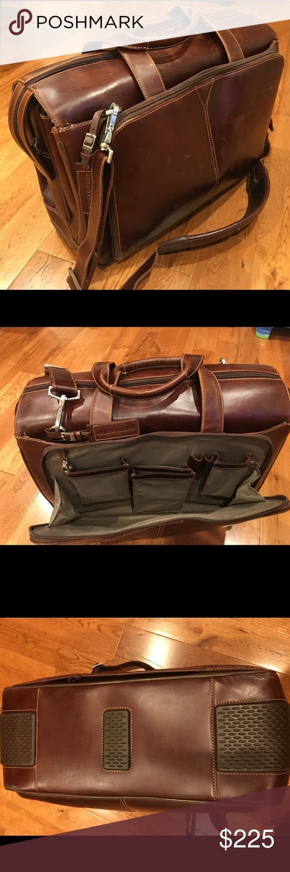 Johnston & Murphy Leather Satchel for Men Beautiful high end leather satchel. Used a handful of times. Interior is perfect. Outside has a couple character marks due to the supple leather. Sells new for $378. Johnston & Murphy Bags Briefcases