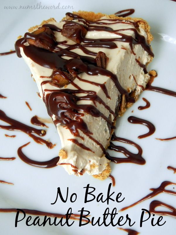 This easy no bake pie is a family favorite! Light and fluffy filled topped with chunks of peanut butter cups and drizzled in chocolate is a hit among everyone who tries it!