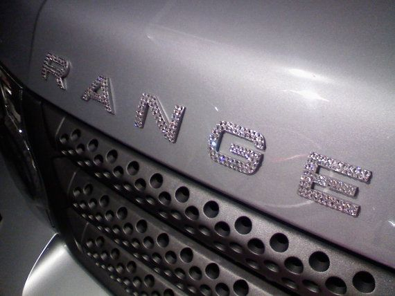 Swarovski custom bling Range Rover car emblems on Etsy, $30.00