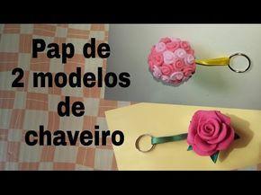 CHAVEIRO DE FLOR E TOPIARIA EM EVA - YouTube