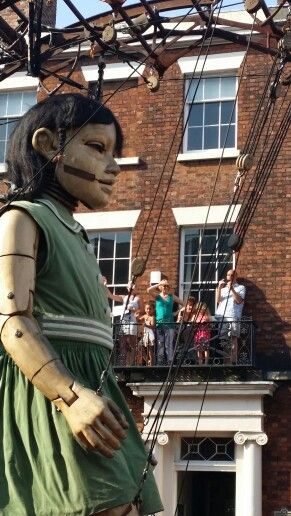 Giants roam the streets of Liverpool
