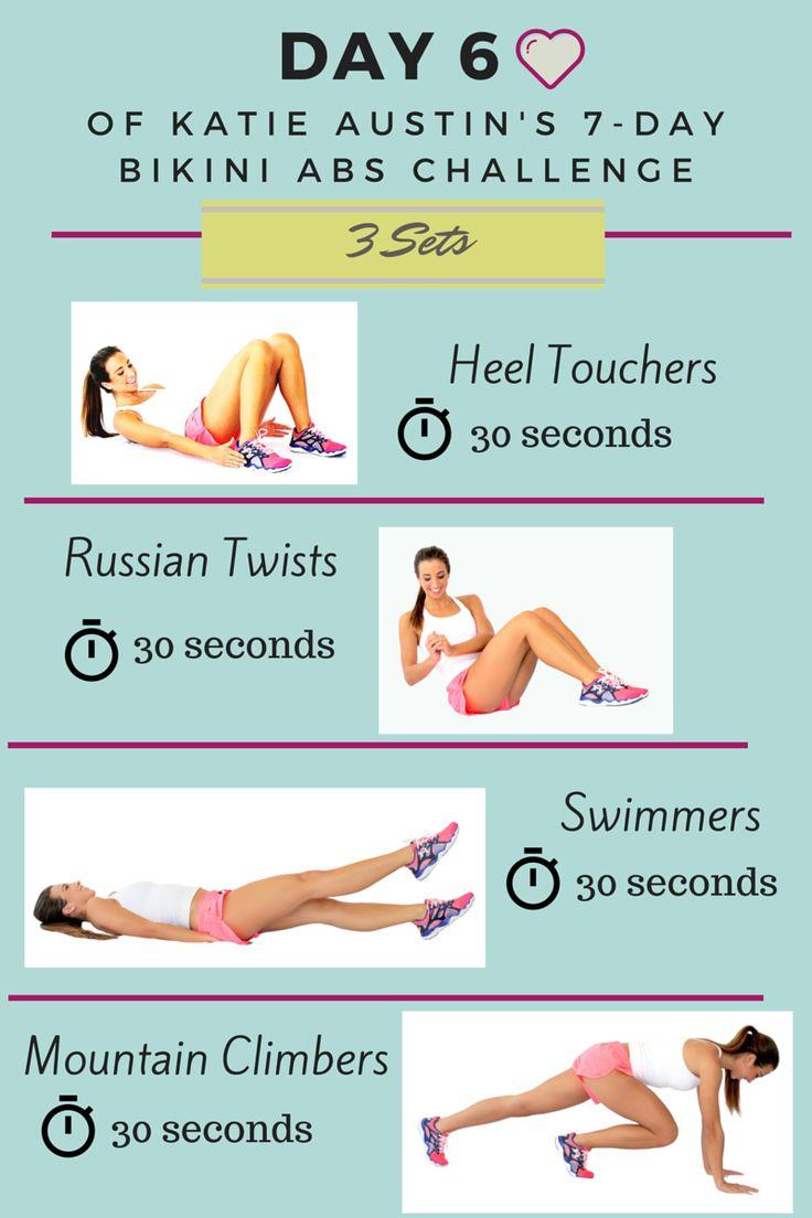 7 Day Bikini Abs Challenge by Katie Austin