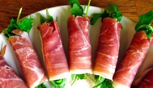 done: appetizer: prosciutto + rocket salad