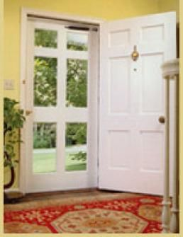 A screen door I actually like! I wish I could have a screen door pocket door. Away when I don't want it covering my pretty front entry, available when I want fresh air in the spring.
