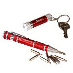 Keylight and Screwdriver Set - Red  | keylight | screwdriver | flashlight | brand | logo | custom | promotional products | red | imprint | promotional giveaways |
