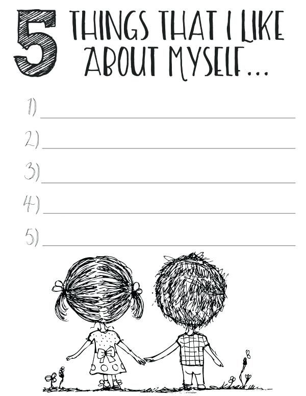 free printable self esteem worksheets counseling ideas ...