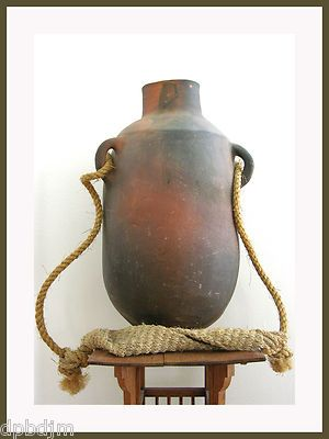 Early 1900's Museum Quality Southwestern Clay Pottery Water Jug Head Strap | eBay