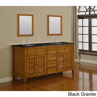 Direct Vanity 70 Inch Oak Shutter Double Vanity Sink Cabinet By Direct Vanity Sink Places An