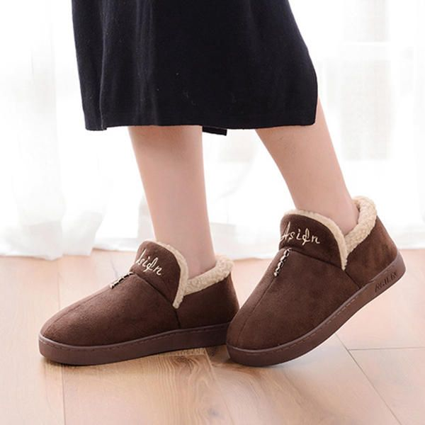 Unisex Cotton Indoor Keep Warm Comfy Home Shoes - US$20.96