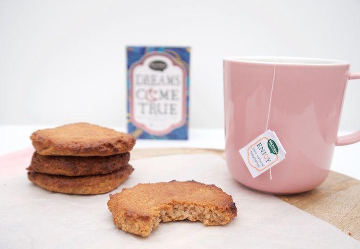 Healthy amandelkoekjes voor bij de thee #healthy #gezond #koekjes #almond #amandelkoekjes