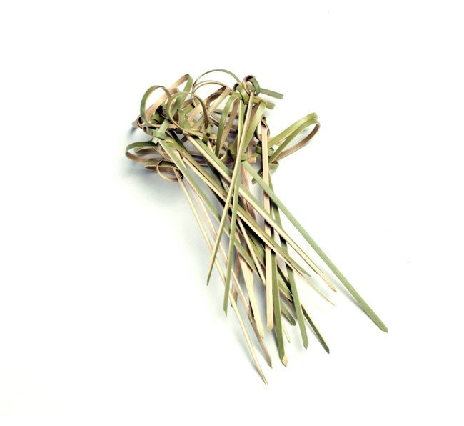 Knotted Bamboo Skewers - BarbecueBible.com