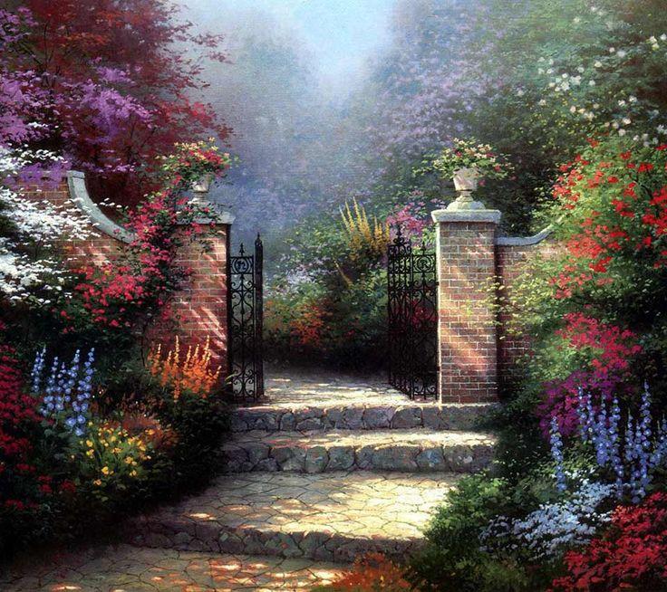 Beyond The Garden Gate By Thomas Kinkade Secret Garden