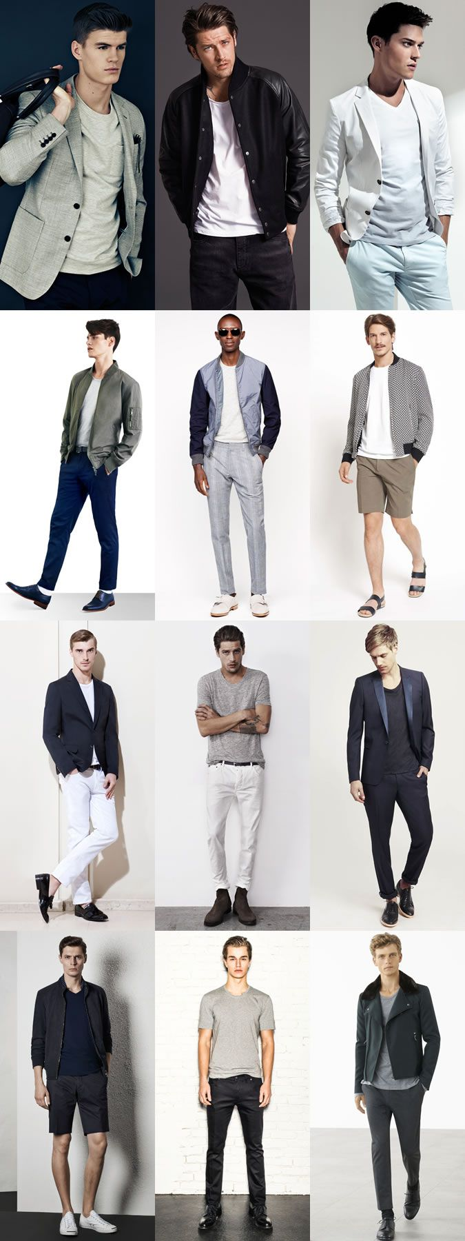 Men's Basic Neutral T-Shirts Outfit Inspiration Lookbook