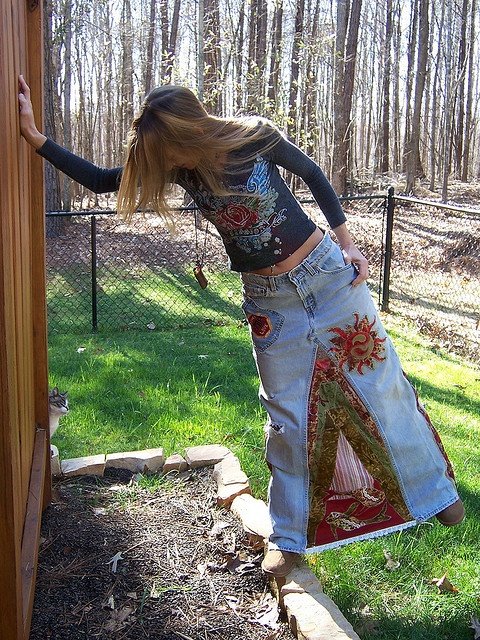 I made one of these in the 70s...loved it...sooo comfy! Butterfly Peace Levi's Hippie Skirt by PaigesPeace